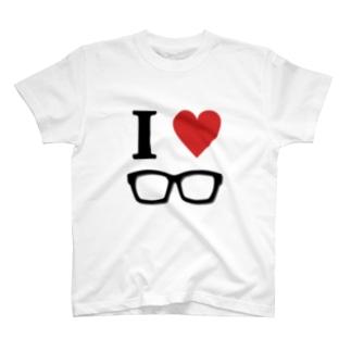 I♥メガネ Tシャツ