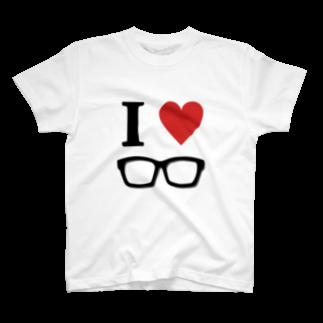 YamasakiMasakiのI♥メガネ Tシャツ