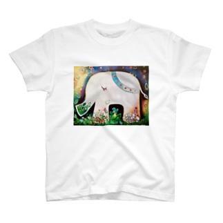 FUNAMIKI ARTのHappy Elephant  T-shirts