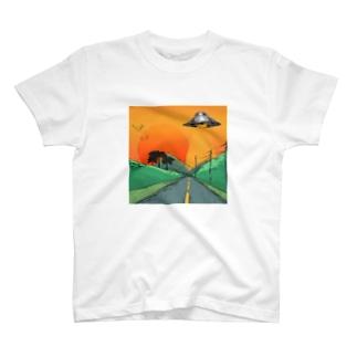 hillmaligramのUFO ロンT T-shirts