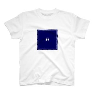 オープンザドア(白イラスト枠あり) T-shirts