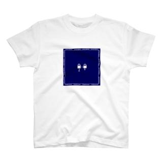 謎と宇宙好きの店のアンロック(白イラスト枠あり) T-shirts