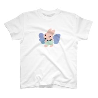 うさぎ島に出入りする紅眼な神さま T-shirts
