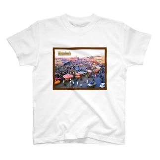 モロッコ:マラケシュのジャマ・エル・フナ市場 Morocco: Jemaa el-Fnaa of Marrakesh T-shirts