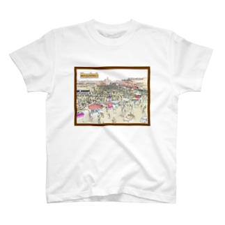 CG絵画:マラケシュのジャマ・エル・フナ市場 CG art: Jemaa el-Fnaa of Marrakesh T-shirts