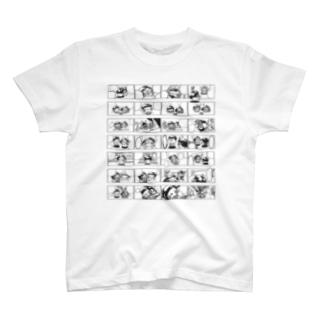 YURU COMIC(black line) T-shirts
