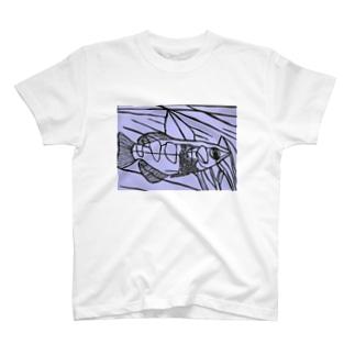テッポウウオ 切り絵 T-shirts
