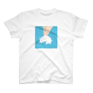 おつまみシリーズ「おつまみおこじょ」シロ T-shirts
