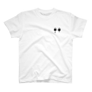 謎と宇宙好きの店のアンロック(黒イラスト小) T-shirts