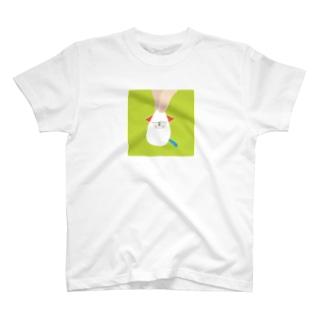 おつまみシリーズ「おつまみMOYASHI」シロ T-shirts