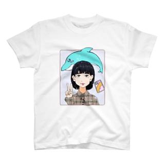 イルカとピース T-shirts