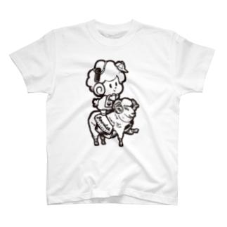 ぐーしぃお散歩T(黒インク) T-shirts