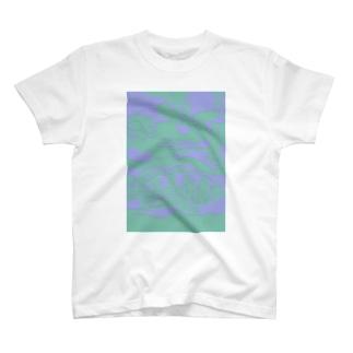 アゴハタ 切り絵 T-shirts