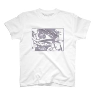 シロワニ 切り絵 T-shirts
