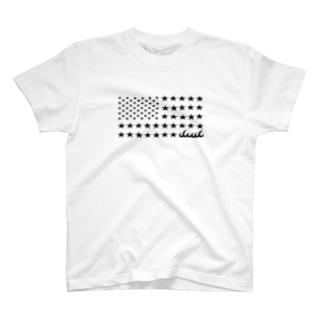 dacci 星条旗オール星(黒) T-shirts