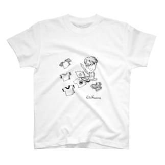 ステッカーERIKAWA(こいずみ) T-shirts