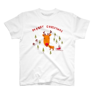 クリスマス@トナカイ T-shirts