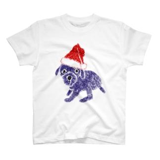 クリスマス@かわいいプードル T-shirts