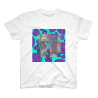お手製ドット青み T-Shirt