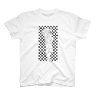 ハートの女の子 T-shirts