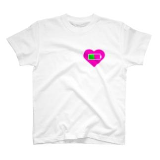 心の充電半分 T-shirts