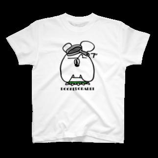 モリヤマ・サルのおそく起きた朝は T-shirts
