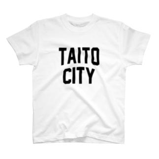 台東区 TAITO CITY ロゴブラック T-shirts