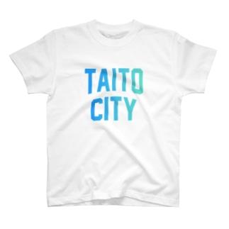 台東区 TAITO CITY ロゴブルー T-shirts