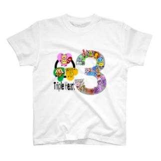 トリプル・ハート3周年 T-shirts