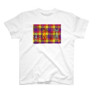 タータンキャット T-shirts