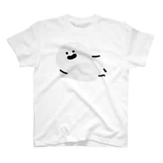 寝そべるおばけ(ほんのりグレー) T-Shirt