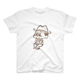 待機園長シリーズ (カウボーイ) T-shirts