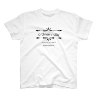 普通の日(黒) T-shirts