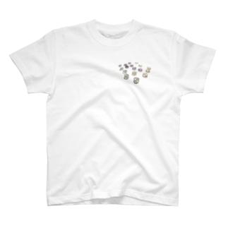 ビジューみたいな力ボタン💎 Ongakus T-shirts