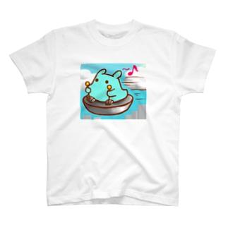 UFOでお出かけ♪【水星人のスイスイちゃん】 T-shirts