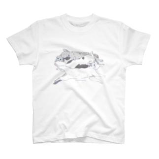 長い猫トリプル T-shirts