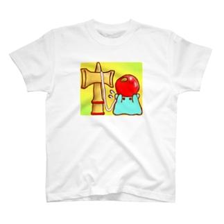 けん玉【水星人のスイスイちゃん】 T-shirts