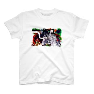 001:はなび T-shirts