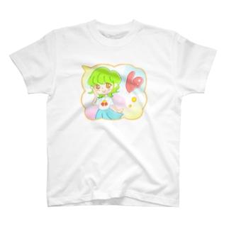 ハート【ふわふわ女の子♪】 T-shirts