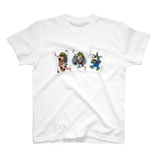 ババ抜き_ロゴ黒 T-shirts