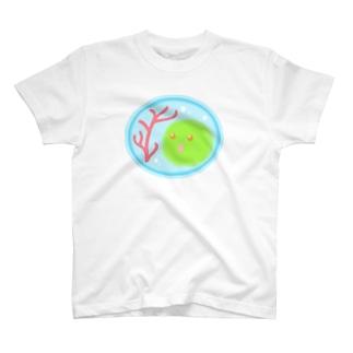 赤サンゴ【マリモの妖精・まりポックル】 T-shirts