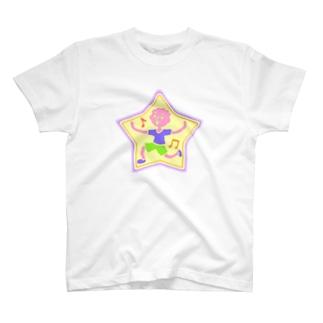 星型ハッピー♪【カラフル元気はつらつ】 T-shirts