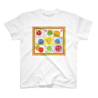 まるボックル曼荼羅【丸い妖精・まるボックル】 T-shirts