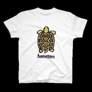 またのヒョウモンリクガメTシャツ Tシャツ