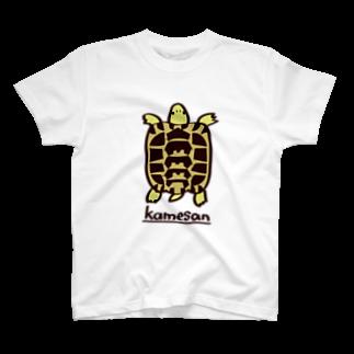 またのヘルマンリクガメTシャツ T-shirts
