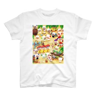 #ひつじです 沖縄カチャーシー T-shirts