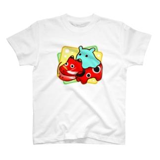 赤べこ【水星人のスイスイちゃん】 T-shirts