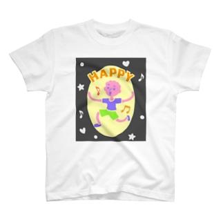 HAPPY【カラフル元気はつらつ】 T-shirts