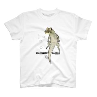 メガネカイマン/水の中 T-shirts
