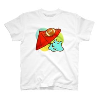 くるくるラグビーボール!【水星人のスイスイちゃん】 T-shirts